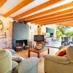 Finca Mallorca MA3350 Wohnraum mit TV