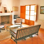Finca Mallorca MA3380 - Wohnbereich mit Kamin