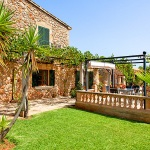 Finca Mallorca Pollensa 3437 - Rasenfläche