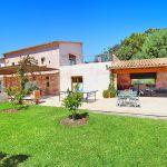 Luxus-Finca Mallorca MA3350 Hausansicht vom Garten