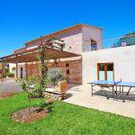 Luxus-Finca Mallorca MA3350 Terrasse mit Tischtennisplatte