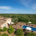 Luxusfinca Mallorca MA3260 Blick auf Haus und Pool