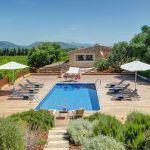 Luxusfinca Mallorca MA3260 Blick auf den Poolbereich