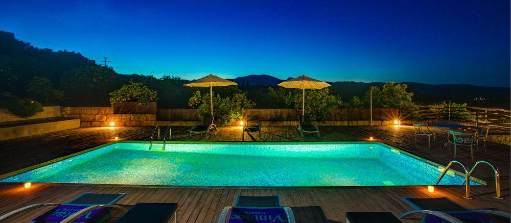 Luxusfinca Mallorca MA3260 Poolbeleuchtung am Abend