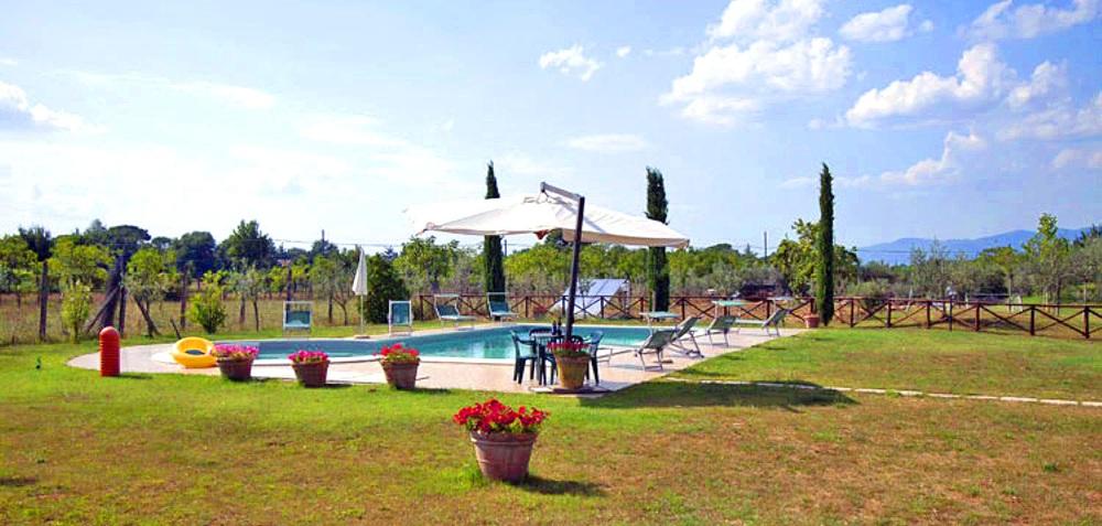 Toskana Ferienhaus TOH601 - Pool im Garten