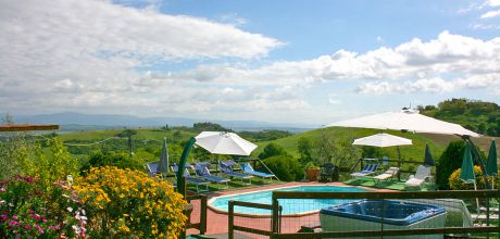 Toskana Ferienhaus Torrita di Siena 722 mit beheizbarem Pool und Tennisplatz, kostenlose Stornierung bis 45 Tage vor Anreise für alle Neubuchungen, An- und Abreisetag Samstag, Nebensaison flexibel auf Anfrage, Mindestmietzeit 1 Woche.