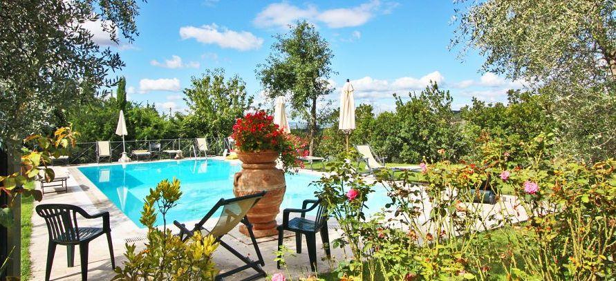 Ferienhaus Toskana TOH730 Garten mit Pool