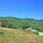 Ferienhaus Toskana TOH765 Blick über den Pool