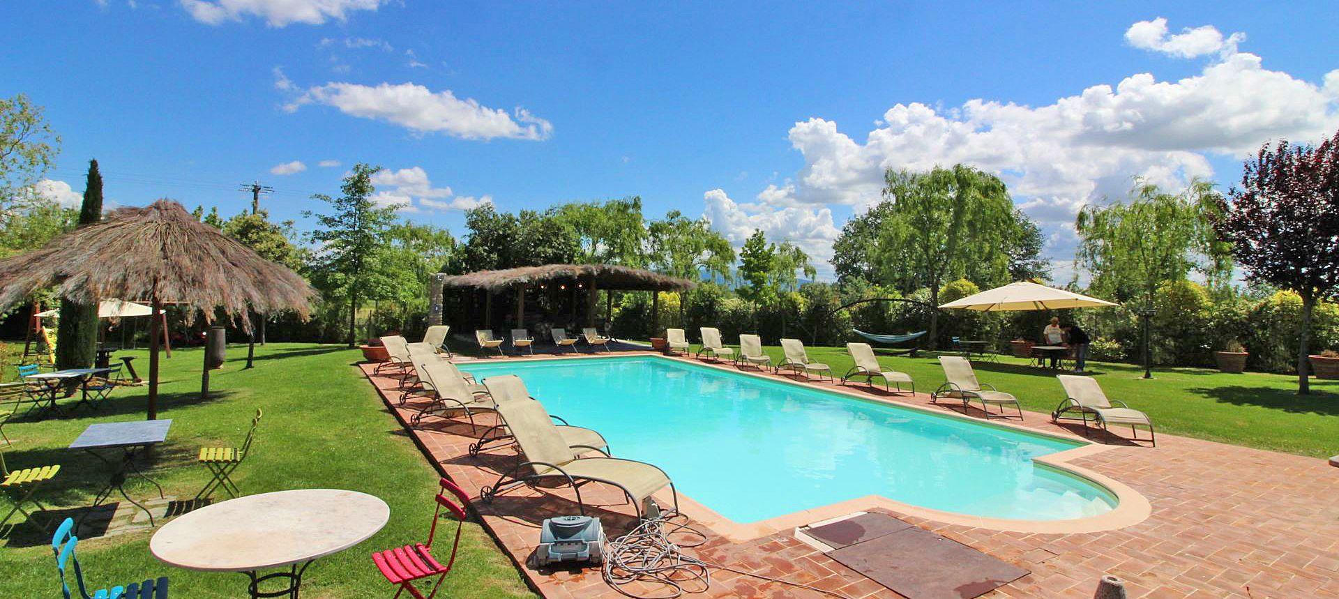 Ferienhaus Toskana TOH855 Gartenmöbel am Pool
