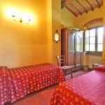 Ferienhaus Toskana TOH855 Schklafraum mit 2 Betten