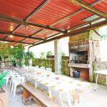 Ferienhaus Toskana TOH865 überdachte Terrasse mit Esstisch
