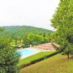 Ferienhaus Toskana TOH865 Blick auf den Swimmingpool