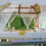 Ferienhaus Toskana TOH500 Pavillon mit Esstisch