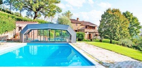 Ferienhaus Toskana / Umbrien Lisciano Niccone 505 mit beheizbarem Pool für 10 Personen, Wechseltag Samstag, Nebensaison flexibel nach Anfrage. – – Wenn wegen Corona / Covid 19 keine Anreise möglich ist, kann kostenlos umgebucht oder storniert werden!