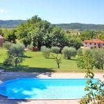 Ferienhaus Toskana TOH510 Blick über den Pool