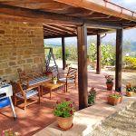 Ferienhaus Toskana TOH515 überdachte Terrasse