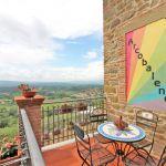 Ferienhaus Toskana TOH520 Balkon mit Ausblick
