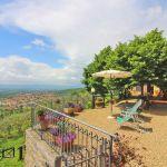 Ferienhaus Toskana TOH520 Terrasse mit Ausblick
