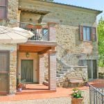 Ferienhaus Toskana TOH520 Terrasse mit Sonnenschirm