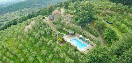 Toskana Ferienhaus San Giustino Valdarno 515 mit Pool und Internet, Wohnfläche 160qm. Wechseltag Samstag, Nebensaison flexibel auf Anfrage.