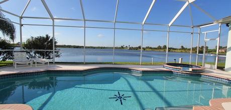 Deluxe Ferienhaus Florida Lake Marlin 46225 mit beheizbarem Pool und Whirlpool an See, Grundstück 1.500qm, Wohnfläche 250qm. Wechseltag flexibel.