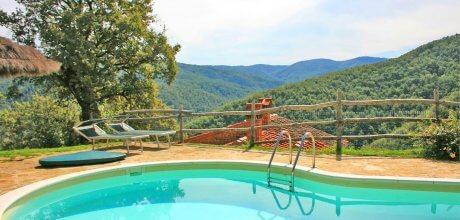 Ferienhaus Toskana Arezzo 210 mit Pool und herrlichem Ausblick, Wechseltag Samstag, Nebensaison flexibel auf Anfrage. – – Wenn wegen Corona / Covid 19 keine Anreise möglich ist, kann kostenlos umgebucht oder storniert werden!