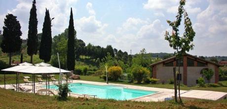 Ferienhaus Toskana Rapolano Terme 407 mit Pool und Panoramablick, Wohnfläche 180qm. Wechseltag Samstag, Nebensaison flexibel auf Anfrage.