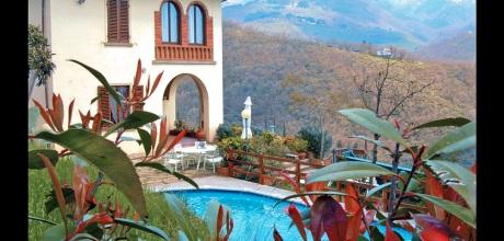 Ferienhaus Toskana Loro Ciuffenna 415 mit Panoramablick und Pool, Wohnfläche 160qm. Wechseltag Samstag, Nebensaison flexibel auf Anfrage.