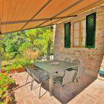 Ferienhaus Toskana TOH420 überdachte Terrasse