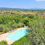 Ferienhaus Toskana TOH422 Blick über den Pool