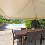 Ferienhaus Toskana TOH422 Esswtisch auf der Terrasse