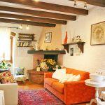 Ferienhaus Toskana TOH423 Wohnbereich mit Kamin