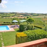 Ferienhaus Toskana TOH425 Blick vom Balkon