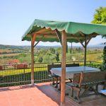 Ferienhaus Toskana TOH425 Esstisch auf der Terrasse