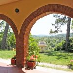 Ferienhaus Toskana TOH430 Blick von der Terrasse