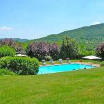 Ferienhaus Toskana TOH445 Blick über den Pool