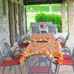 Ferienhaus Toskana TOH445 Esstisch auf der Terrasse