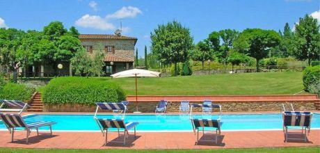 Ferienhaus Toskana Subbiano 445 mit Pool und schönem Ausblick, Wohnfläche 250qm. Wechseltag Samstag, Nebensaison flexibel auf Anfrage.
