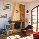 Ferienhaus Toskana TOH490 - Wohnraum mit Kamin