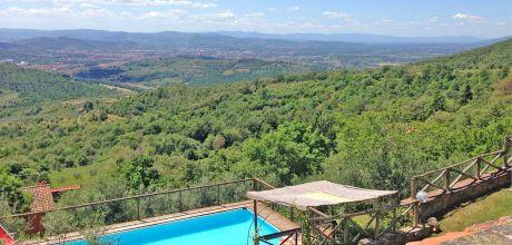 Ferienhaus Toskana Arezzo 335 mit Pool und herrlichem Panoramablick, Wohnfläche 180qm. Wechseltag Samstag, Nebensaison flexibel auf Anfrage.