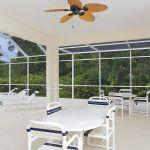 Ferienhaus Florida FVE41712 überdachte Terrasse mit Esstisch