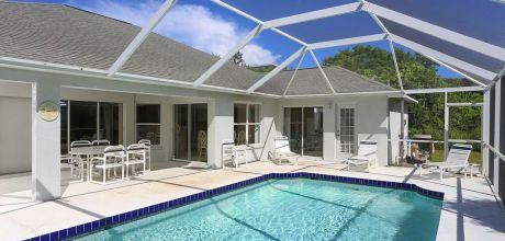Komfort-Ferienhaus Florida Manasota Beach 42435 mit beheizbarem Pool in Strandnähe (ca. 700m), Grundstück ca. 2.000qm, Wohnfläche ca. 250qm. Wechseltag flexibel.