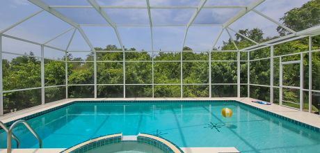 Komfort-Ferienhaus Manasota Beach 42630 mit beheizbarem Pool und Whirlpool in Strandnähe (ca. 1,1km), Grundstück ca. 2.000qm, Wohnfläche ca. 250qm . Wechseltag flexibel.