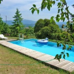 Ferienhaus Toskana TOH310 - Wasserbecken mit Liegen