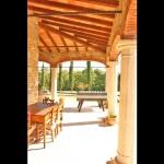 Ferienhaus Toskana TOH315 - überdachte Terrasse mit Kicker