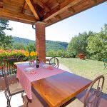 Ferienhaus Toskana TOH317 Terrasse mit Esstisch