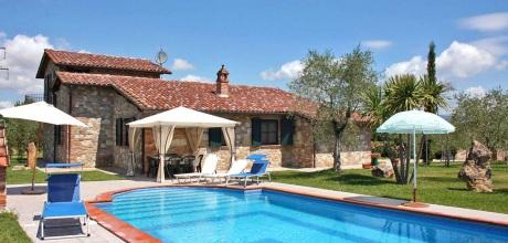 Toskana Ferienhaus Castiglione del Lago 320 mit privatem Pool, Wohnfläche 120qm. Wechseltag Samstag, Nebensaison flexibel auf Anfrage.