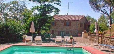 Ferienhaus Toskana Castiglion Fiorentino 340 mit Pool, Wohnfläche 120qm. Wechseltag Samstag, Nebensaison flexibel auf Anfrage.