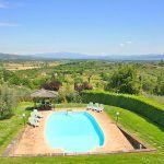 Ferienhaus Toskana TOH345 Blick über den Pool