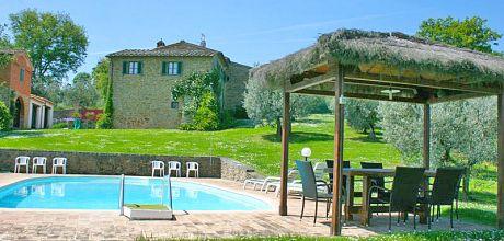 Ferienhaus Toskana Monte San Savino 345 mit privatem Pool, Wohnfläche 120qm. Wechseltag Samstag, Nebensaison flexibel auf Anfrage.
